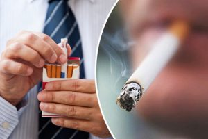 Smoking can cause your teeth prone to staining